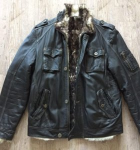 Куртка кожаная (дублёнка) мужская Perre р-р 48 (М)
