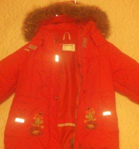 Куртка зимняя керри+перчатки.