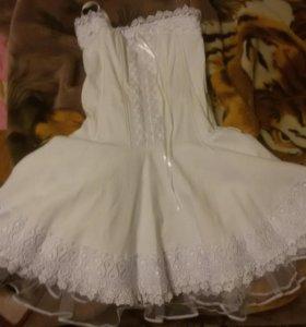 Платье , верх корсет