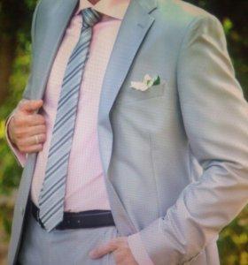 Костюм мужской barkland + 2 рубашки и 2 галстука