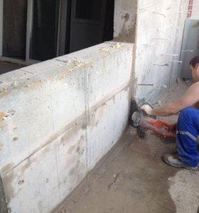 Делаем проёмы, отверстия, убираем стены