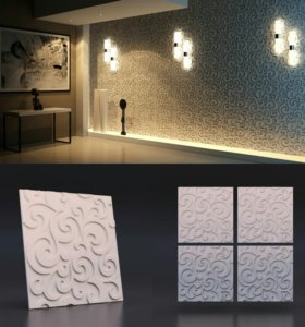 Декоративные 3D панели для интерьера.