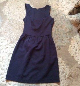 Синее платье mohito