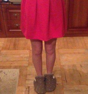 Тёплая яркая юбка
