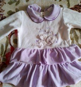 Велюровое платье для малышки