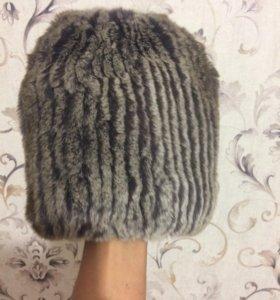 Меховая  шапка из натурального кролика