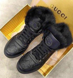 Женские зимние ботинки Гучи