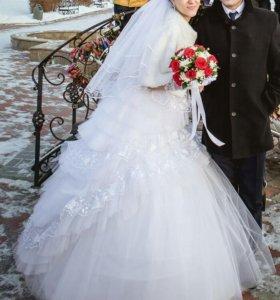 Шикарное свадебное платье-трансформер р.42-46