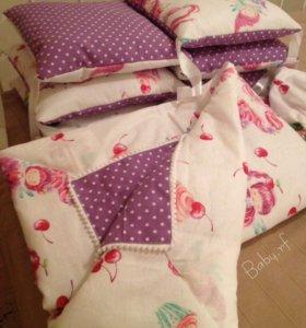 Бортики-подушечки,постельное белье,одеяло