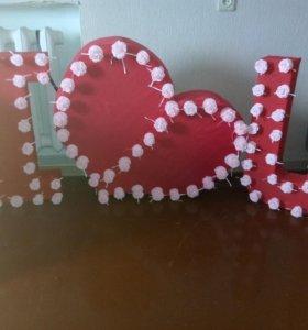 Объемные буквы для вашей фотосессии