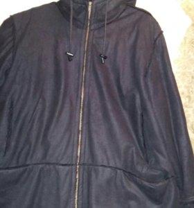 Куртка с капюшоном иск.замша