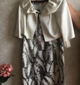 Комплект (платье и жилетка )