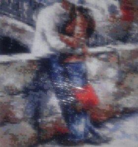 """Картина """"Любовь под зонтом"""""""