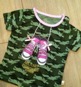 Детская стильная футболка для девочки. Новая.