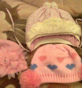 Комплект шапок зима-весна-осень