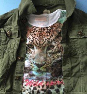 Футболка и куртка джинсовая