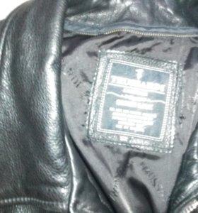 Куртка кожаная мужская(осенне-зимняя)