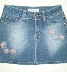 Юбка джинсовая, р42