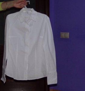Блузка белая oddji б/ у