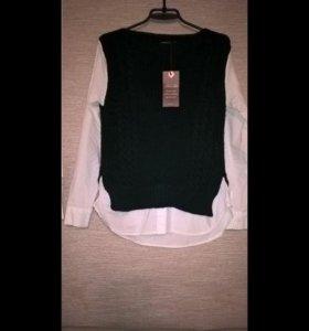 Женская Новая рубашка с вшитой жилеткой!!!