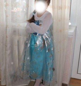 Новогоднее платье костюм Эльзы