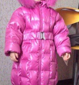 Куртка пальто пуховик для девочки