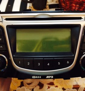Головное устройство (mp3)оригинал Hyundai Solaris