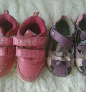 Кроссовки + сандали на девочку