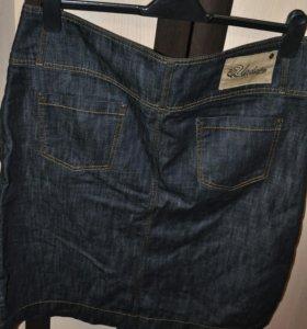 Джинсовая юбка, р.48-50