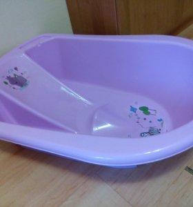 Большая ванночка с горкой и стульчиком для купания