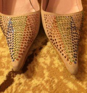 Туфли натуральная замша 39р-р