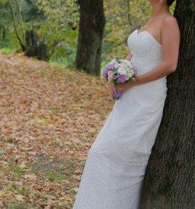 Свадебное платье,болеро и свадебные украшения