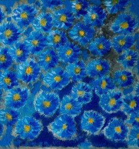 Картина ,,Синие цветы,,