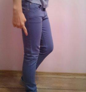 Штаны женские фиолетово-синего цвета