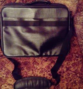 Кожаная сумка (переноска для ноутбука)