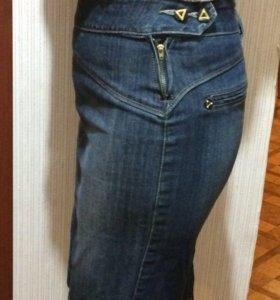 Юбка джинсовая  классика