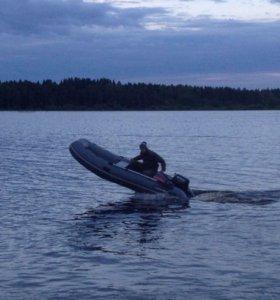 Лодка пвх hunter 360A с нднд,мотор Suzuki 9,9