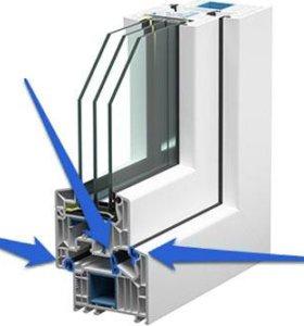 Уплотнитель резиновый для окон ПВХ.
