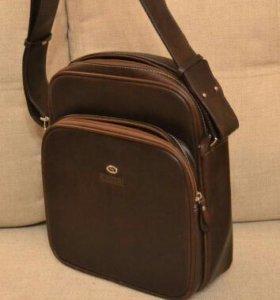 Мужская сумка коричневая кожа