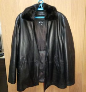 Куртка кожаная зимняя р.56-58