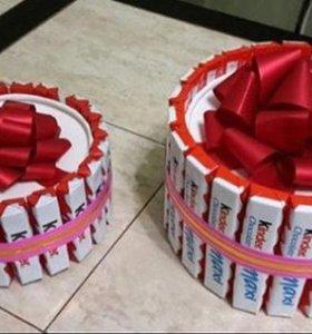 Тортики из конфет на заказ.