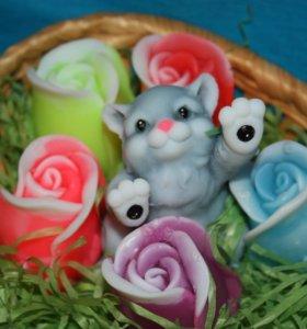 Наборчики с кисками и цветами в корзинках!!!