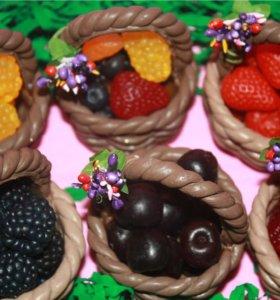 Корзиночка мыльная с мыльными ягодами!!