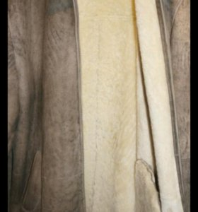 Дубленка мужская ягненок светлая 52