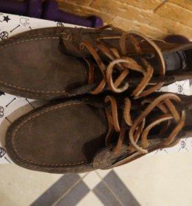 Ботинки Мокасины 42 Gutreridge замша Италия новые