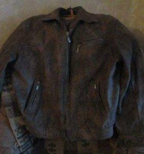 Мужская натур кожаная куртка