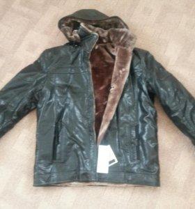 Куртка мужская кож.заменитель с искусственным мехо