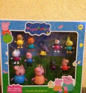 Свинка Пеппа, большой набор из 11 героев