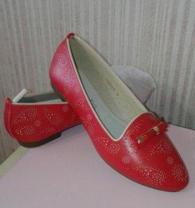 Новые балетки-лоферы, туфли, мокасины