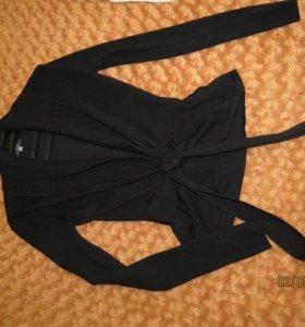 Теплая кофта-пиджак, 44 (одела 1раз)